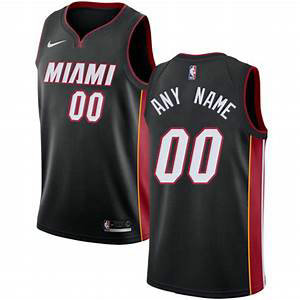 Men's Nike Miami Heat Black NBA Swingman Icon Edition Custom Jersey