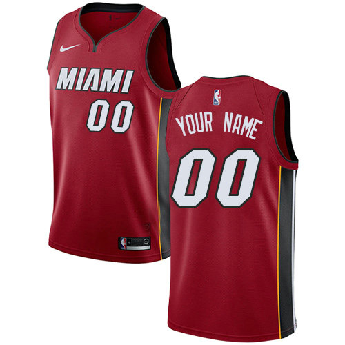 Men's Nike Miami Heat Red NBA Swingman Icon Edition Custom Jersey