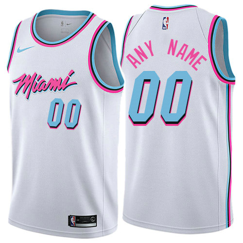 Men's Nike Miami Heat White NBA Swingman City Edition Custom Jersey