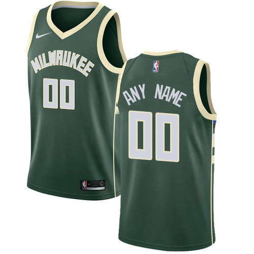 Men's Nike Milwaukee Bucks Customized Swingman Green Road NBA Icon Edition Jersey