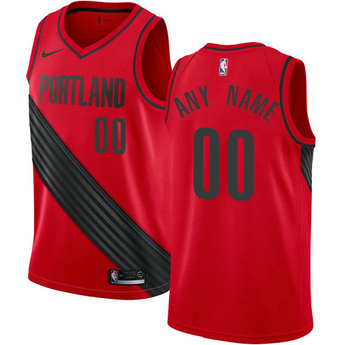 Men's Nike NBA Portland Trail Blazers Statement Edition Authentic Customized Alternate Red Jersey