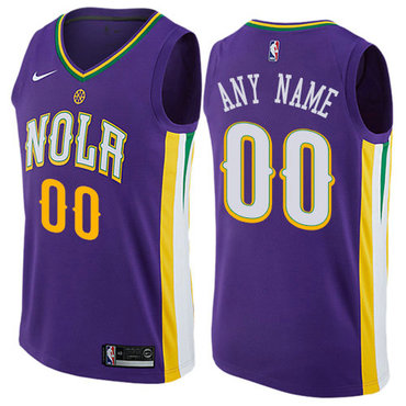 Men's Nike New Orleans Pelicans Customized Authentic Purple NBA City Edition Jersey