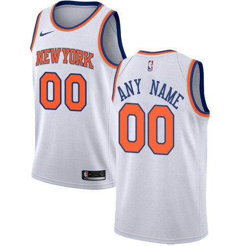 Men's Nike New York Knicks Customized Authentic White NBA Association Edition Jersey