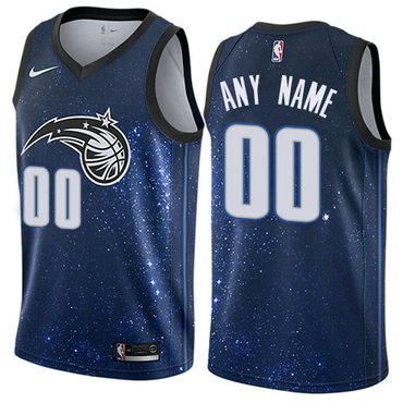 Men's Nike Orlando Magic Customized Authentic Blue NBA City Edition Jersey