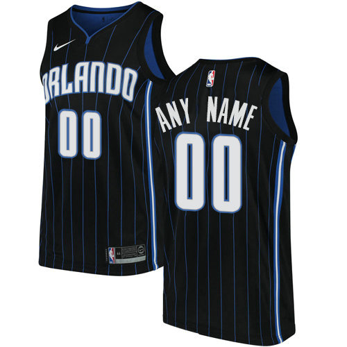 Men's Nike Orlando Magic Customized Swingman Black Alternate NBA Statement Edition Jersey