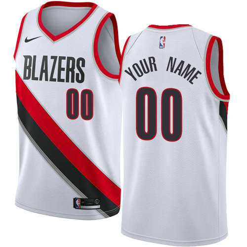 Men's Nike Portland Trail Blazers Customized Swingman White Home NBA Association Edition Jersey