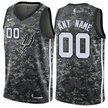 Men's Nike San Antonio Spurs Customized Authentic Camo NBA City Edition Jersey