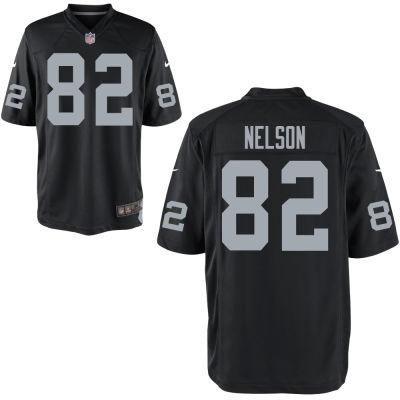 Men's Oakland Raiders #82 Jordy Nelson Nike Black Elite Jersey