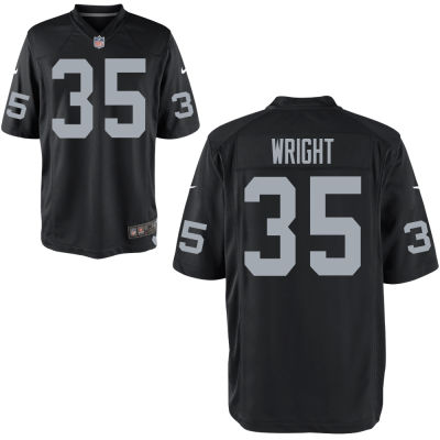 Men's Oakland Raiders Nike Black #35 WRIGHT Elite Jersey