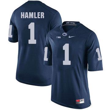 Men's Penn State Nittany Lions #1 KJ Hamler NCAA Navy Blue Stitched Jersey