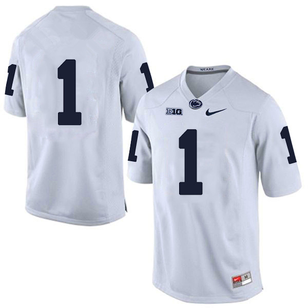 Men's Penn State Nittany Lions #1 KJ Hamler NCAA White Stitched Jersey Without name