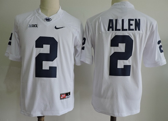 Men's Penn State Nittany Lions #2 Marcus Allen White Limited College Football Stitched Nike NCAA Jersey