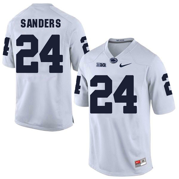 Men's Penn State Nittany Lions #24 Miles Sanders NCAA White Stitched  Jersey