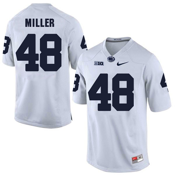 Men's Penn State Nittany Lions #48 Shareef Miller NCAA White Stitched  Jersey