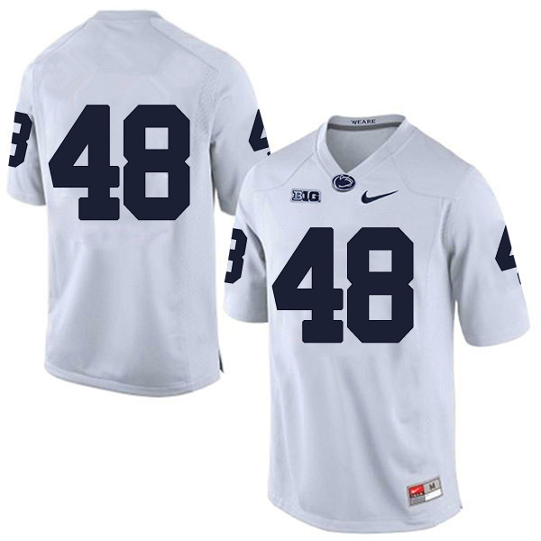 Men's Penn State Nittany Lions #48 Shareef Miller NCAA White Stitched  Jersey Without Name