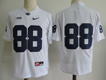 Men's Penn State Nittany Lions #88 Mike Gesicki No Name White Limited College Football Stitched Nike NCAA Jersey