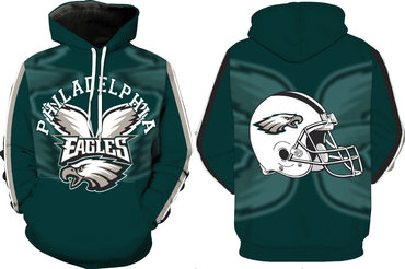 Men's Philadelphia Eagles Green Pullover Hoodie