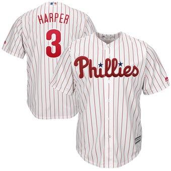 Men's Philadelphia Phillies #3 Bryce Harper White Home Coolbase Jersey