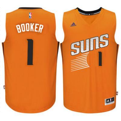 Men's Phoenix Suns #1 Devin Booker adidas Orange Swingman climacool Jersey