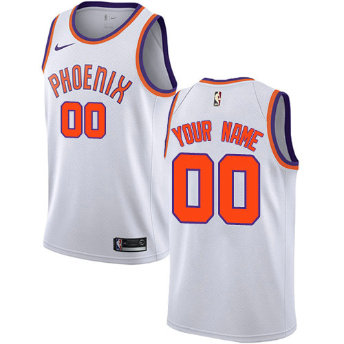 Men's Phoenix Suns Swingman White Nike Customized Association Edition Jersey
