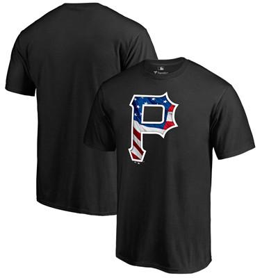 Men's Pittsburgh Pirates Fanatics Branded Black Banner Wave T-Shirt