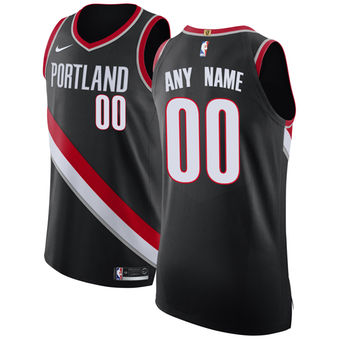 Men's Portland Trail Blazers Black Custom Jersey