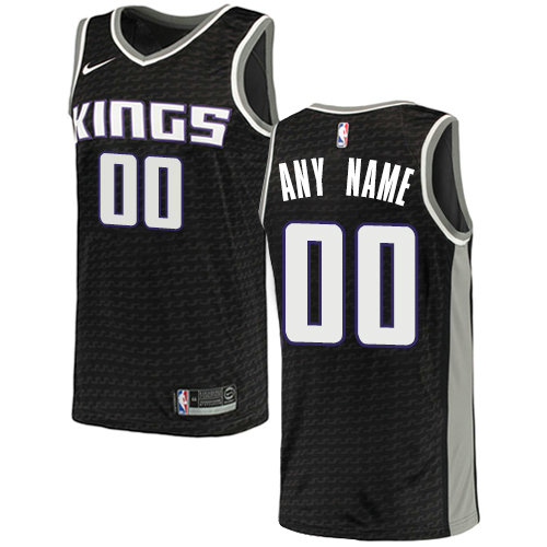 Men's Sacramento Kings Nike Black Swingman Custom City Edition Jersey