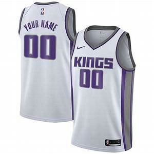 Men's Sacramento Kings Nike White Swingman Custom Icon Edition Jersey