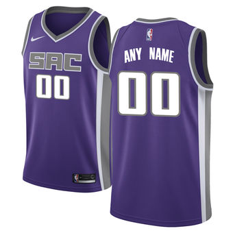 Men's Sacramento Kings Purple Custom Jersey