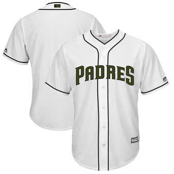 Men's San Diego Padres Majestic White 2018 Memorial Day Cool Base Team Custom Jersey