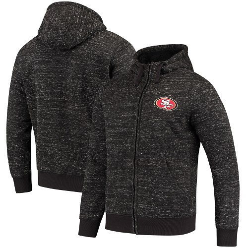 Men's San Francisco 49ers G-III Sports by Carl Banks Heathered Black Discovery Sherpa Full-Zip Jacket