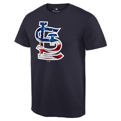 Men's St. Louis Cardinals Navy Banner Wave T-Shirt