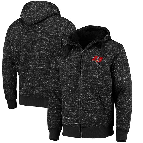 Men's Tampa Bay Buccaneers G-III Sports by Carl Banks Heathered Black Discovery Sherpa Full-Zip Jacket