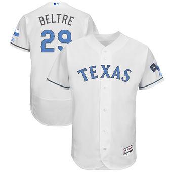 Men's Texas Rangers Adrian Beltre Majestic White Father's Day FlexBase Jersey