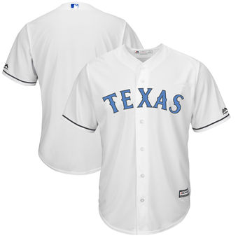 Men's Texas Rangers Majestic White Father's Day Cool Base Replica Team Jersey