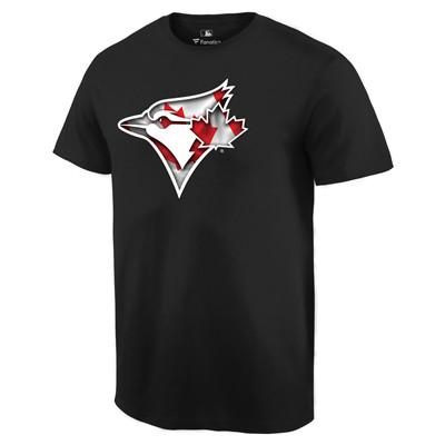 Men's Toronto Blue Jays Black Banner Wave T-Shirt