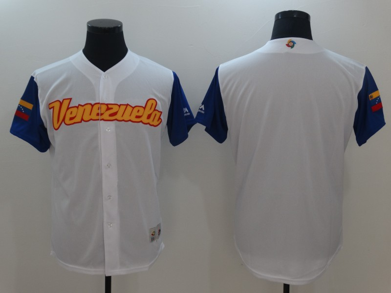 Men's Venezuela Baseball Majestic White Blank 2017 World Baseball Classic Team Jersey