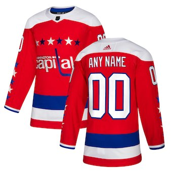 Men's Washington Capitals adidas Red Alternate Authentic Custom Jersey
