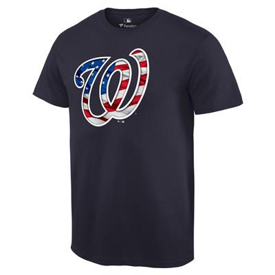 Men's Washington Nationals Navy Banner Wave T-Shirt