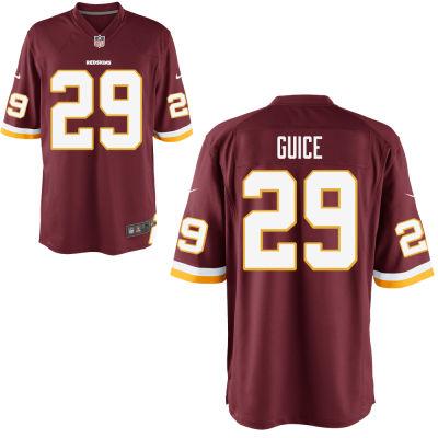 Men's Washington Redskins #29 Guice Red Elite Jersey