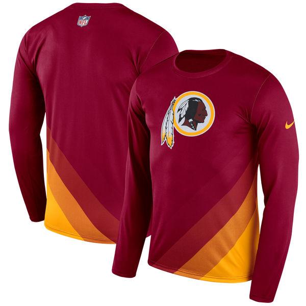 Men's Washington Redskins Nike Burgundy Sideline Legend Prism Performance Long Sleeve T-Shirt