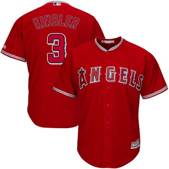 Men Los Angeles Angels #3 Ian Kinsler red Cool Base Jersey