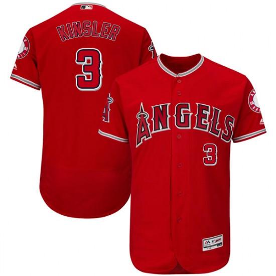 Men Los Angeles Angels #3 Ian Kinsler red Flexbase Jersey