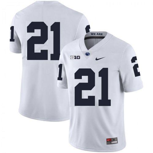 Men Penn State Nittany Lions #21 Noah Cain White Football Jersey
