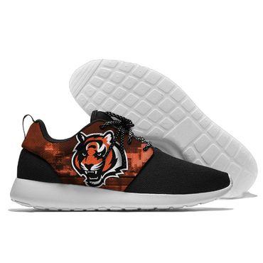 Men and women NFL Cincinnati Bengals Roshe style Lightweight Running shoes (3)