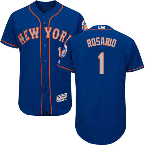 Mets #1 Amed Rosario Blue(Grey NO.) Flexbase Authentic Collection Stitched Baseball Jersey