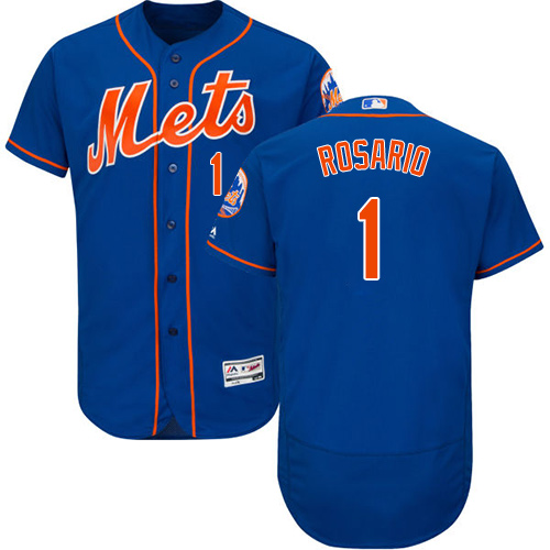 Mets #1 Amed Rosario Blue Flexbase Authentic Collection Stitched Baseball Jersey