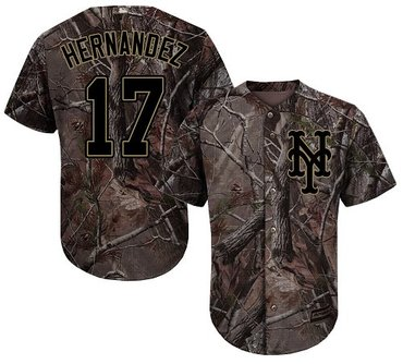 Mets #17 Keith Hernandez Camo Realtree Collection Cool Base Stitched Baseball Jersey