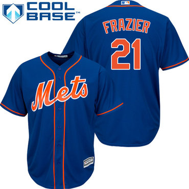 Mets #21 Todd Frazier Blue Cool Base Stitched Youth MLB Jersey