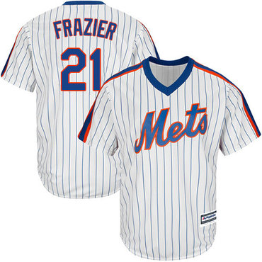 Mets #21 Todd Frazier White(Blue Strip) Alternate Cool Base Stitched Youth MLB Jersey